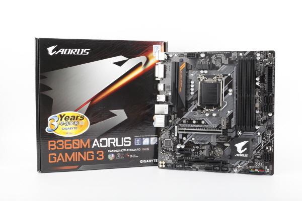 아름다운 B360 게이밍 메인보드, 기가바이트 B360M AORUS Gaming 3 피씨디렉트